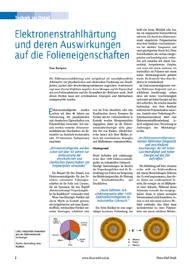 """eDossier """"Elektronenstrahlhärtung und deren Auswirkungen auf die Folieneigenschaften und Druckfarben"""""""