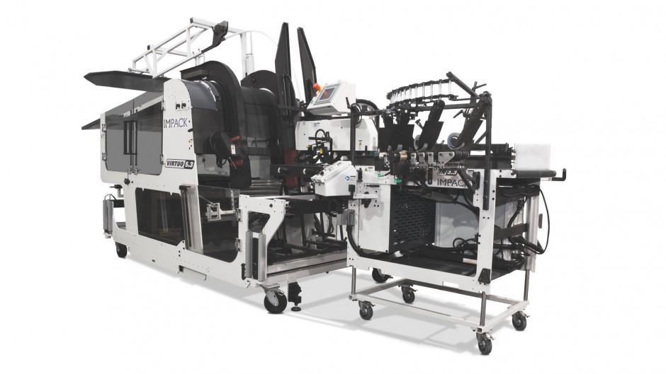 Automatische Abpackanlage Impack Virtuo, Bobst Group, Flexodruckmaschine, Kaschierung, Preprint, Verpackungen, Bobst Group, Flexodruckmaschine, Kaschierung, Preprint, Verpackungen