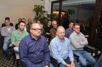 Teilnehmer des Flexostammtisches von Flint Group in Damme, Niedersachsen