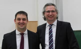 Die Referenten Kolloquiums: Daniel Bohn M.Sc., Doktorand der BUW und Dr.-Ing. Dipl.-Math. Michael Dattner von BST eltromat