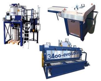Drei Systeme für einen effizienten Reinigungsprozess: Der Flexplatecleaner, die Waschmaschine 3400-e und die Destillieranlage Rotomax-e 20