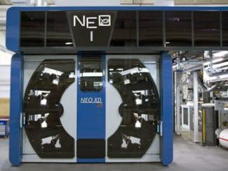 Der Druckturm der Neo XD LR ist laut KBA für die gängigen Farb- und Trocknungssysteme im CI-Flexodruck vorbereitet