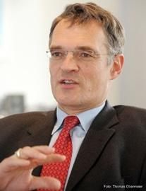 Der KBA- Vorstandsvorsitzende Claus Bolza-Schünemann blickt optimistisch in die Zukunft