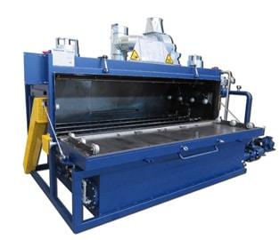 Waschmaschine 3400-e ist exgeschützt und ATEX-konform und reinigt Druckwerksteile, Farbwannen, Rakel oder Eimer