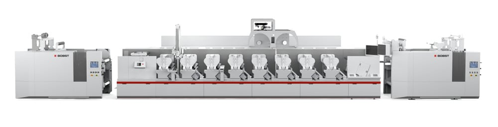 Für den Bereich Flexodruck nutzt Bobst die drupa 2016 für die Weltpremiere der M6 Digital Flexo Inline-UV-Druckmaschine