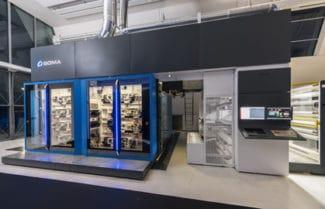 Die Optima 2 von Soma ist die Breitbahnversion der Zentralzylinder-Flexodruckmaschine Optima