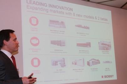 """Jean-Pascal Bobst, CEO Bobst """" Mit unseren sechs Weltpremieren, unterstreicht Bobst seine Position als führender Innovator in der Verpackungs- und Etikettenbranche."""""""