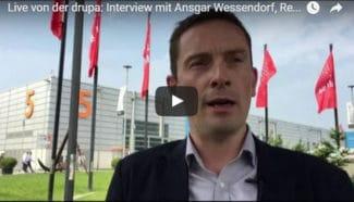Ansgar Wessendorf, Redakteur der Fachzeitschrift Flexo+Tief-Druck, gibt in einem Video-Interview seine Einschätzung zur drupa 2016 ab