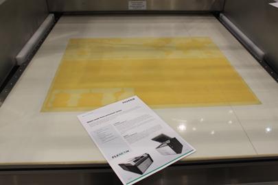 Die Flexodruckplatte Flenex FW nach dem Auswaschprozess