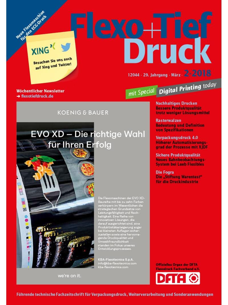 Produkt: Flexo+Tief-Druck 2/2018 Digital