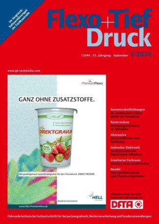Titelseite Flexo Tiefdruck Ausgabe 5/2014