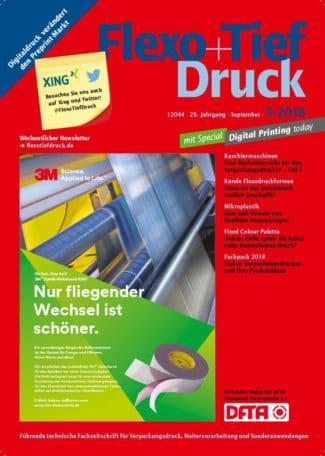 Titelseite Flexo Tiefdruck Ausgabe 5/2018