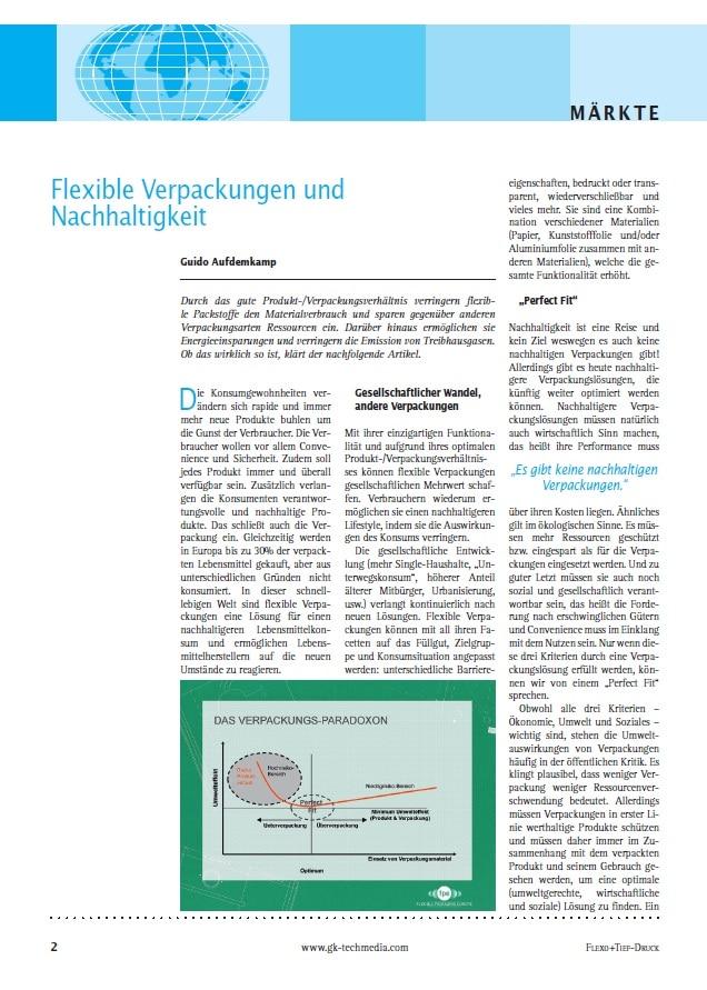 Produkt: Download »Flexible Verpackungen und Nachhaltigkeit«